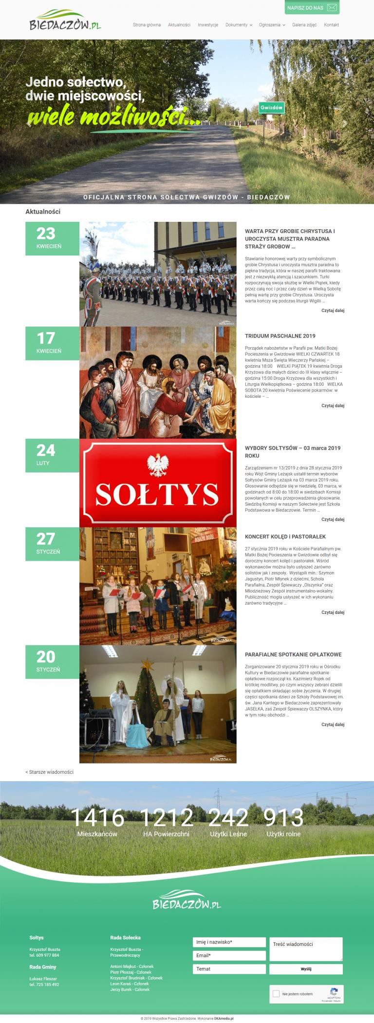 Realizacja DKAmedia dla - Biedaczów – Oficjalna strona sołectwa Gwizdów – Biedaczów - www.biedaczow.pl