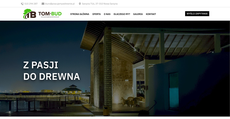 Projekt strony internetowej dla stolarni