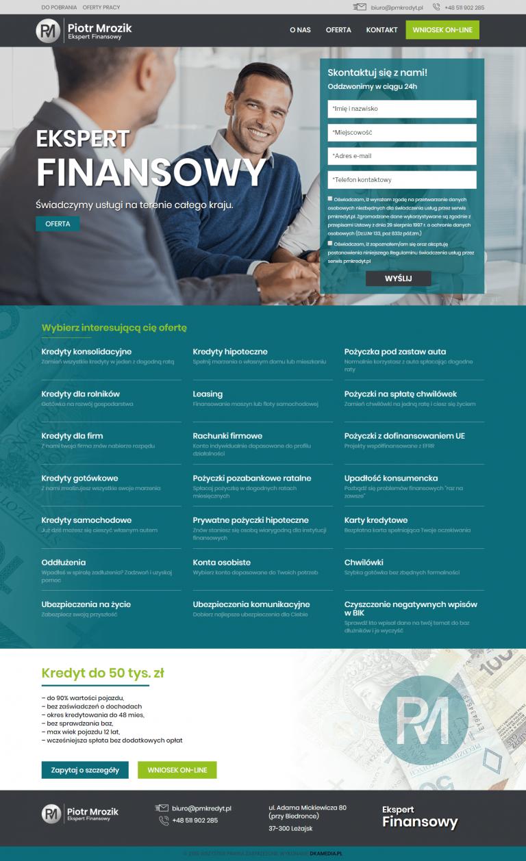 Realizacja DKAmedia dla - Kredyty – Piotr Mrozik PMKREDYT.pl – Doradztwo Finansowe - pmkredyt.pl