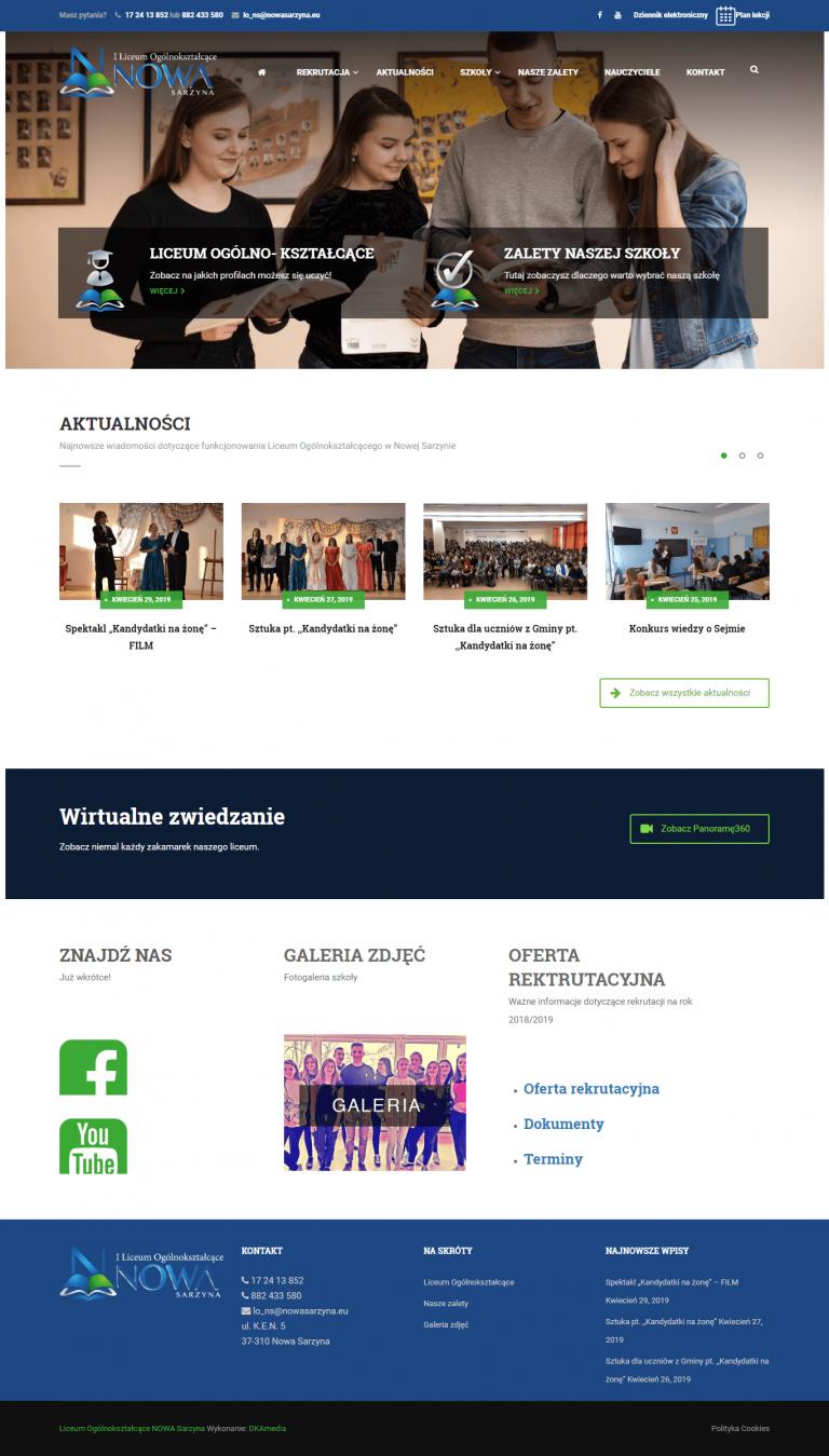 Realizacja DKAmedia dla Liceum Ogólnokształcące – NOWA SARZYNA - szkola-nowasarzyna.pl