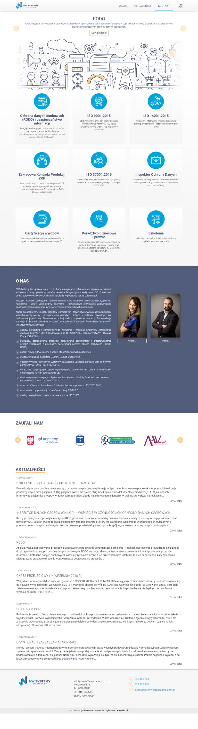 Realizacja przed firmę DKAmedia dla NW Systemy Zarządzania – Doradztwo, audyt, wdrażanie systemów zarządz_ - systemyzarzadzania.com.pl