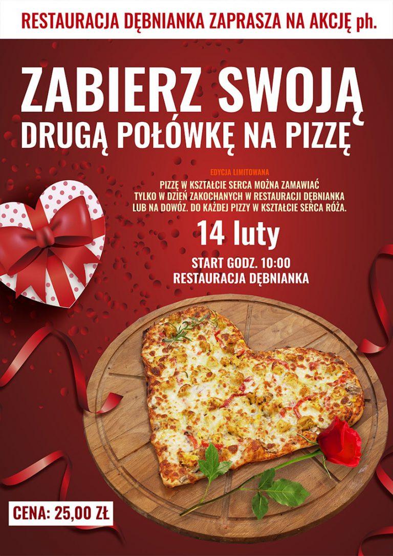 Projekt oraz druk Plakatu Pizza na Walentynki