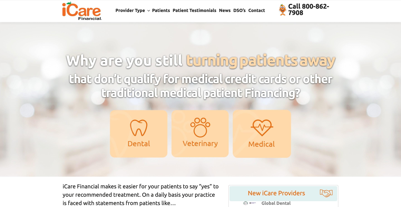 Serwis internetowy dla iCareFinancial