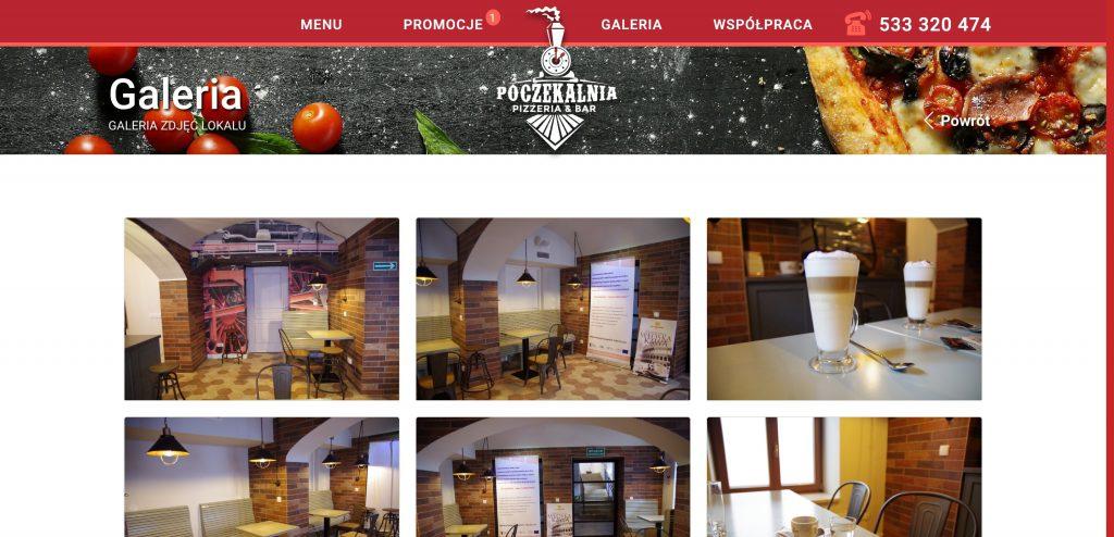 Projekt strony internetowej dla kawiarni
