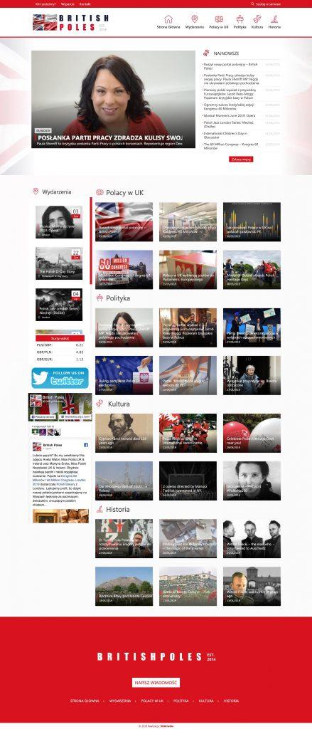 Projekt graficzny serwisu internetowego