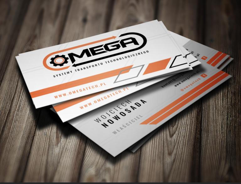 Agencja Reklamowa DKAmedia - Oferta reklama - druk wizytówek - OmegaTech