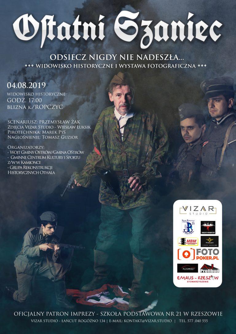 Agencja Reklamowa DKAmedia - Projekt oraz druk Plakatu - Vizar Studio - Rekonstrukcja Historyczna w Blizne 2019