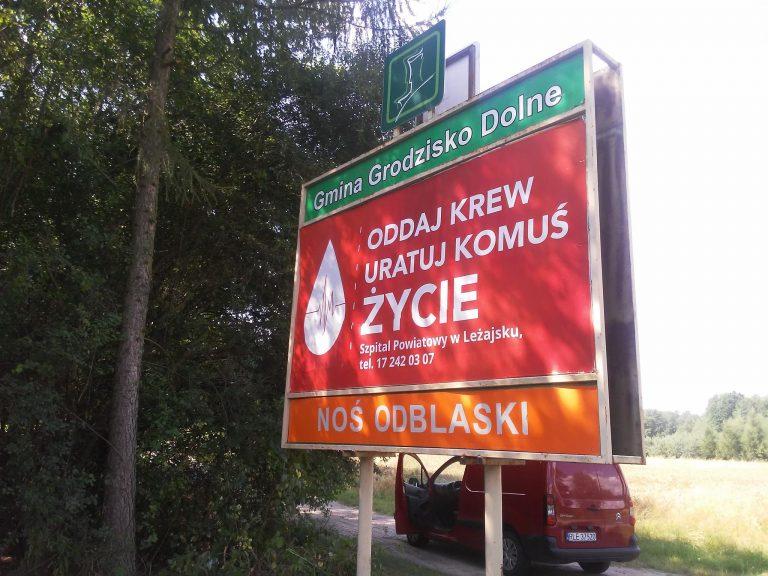 Agencja Reklamowa DKAmedia - Oferta Reklama - projekt oraz oklejenie witacza w Grodzisku Dolnym