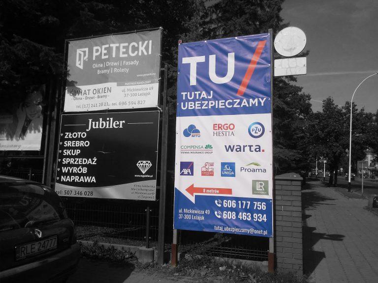 Agencja Reklamowa DKAmedia - Oferta Drukarnia - Bannery - projekt oraz wydruk banneru dla Firmy ubezpieczeniowej Adviser Vip Mój Doradca Finansowy Wojnar Dariusz w Leżajsku