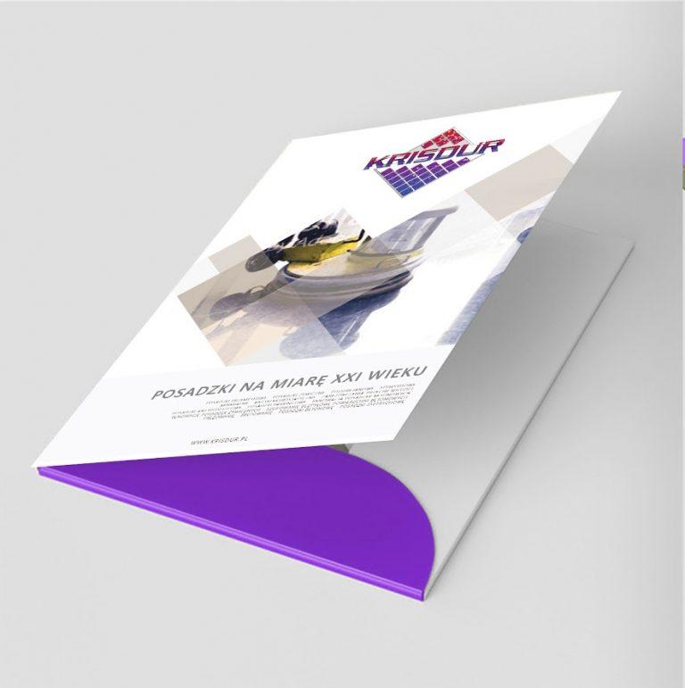 Agencja Reklamowa DKAmedia - Oferta Drukarnia - Teczki Firmowe - projekt oraz wydruk teczki firmowej dla firmy Krisdur z Grodziska Dolnego