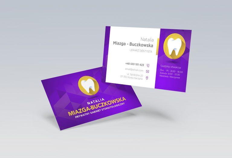 Agencja Reklamowa DKAmedia - Oferta Drukarnia - Wizytówki -Realizacja, projekt oraz druk wizytówek dla NataliI Buczkowskiej - Dentysta Stomatolog