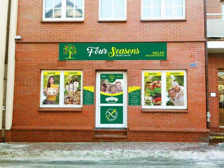 Agencja Reklamowa DKAmedia - Oferta Reklama - Oklejanie niestandardowych projektów - projekt oraz oklejenie okien i drzwi dla firmy FourSeason z Leżajska