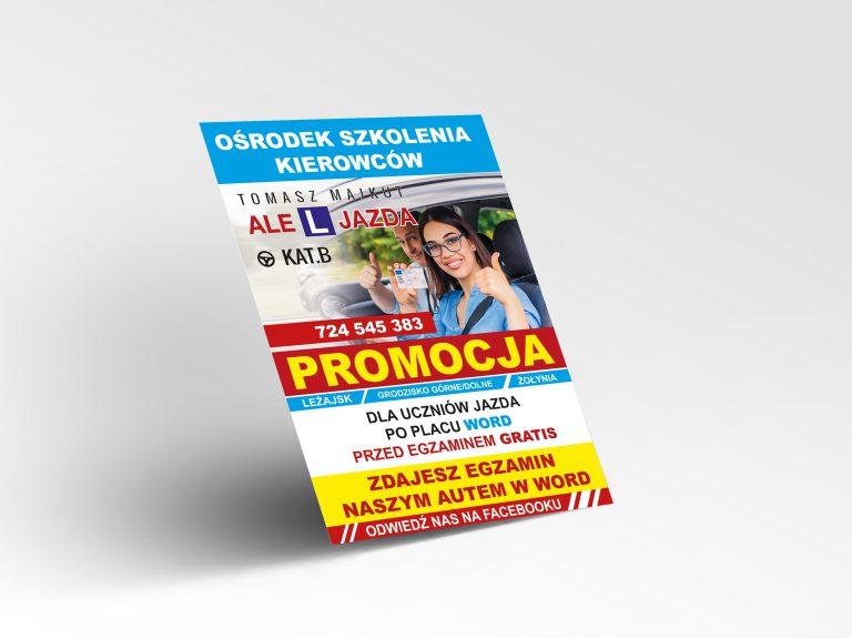 Agencja Reklamowa DKAmedia - Oferta Drukarnia - Ulotki -Realizacja, projekt oraz druk ulotek dla Ale L Jazda - Tomasz Majkut