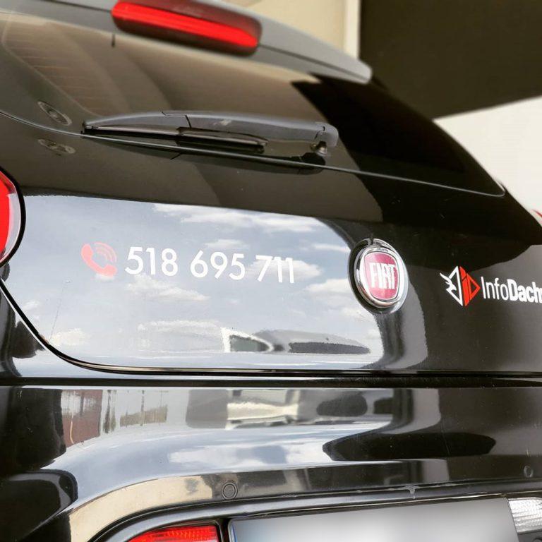 Oklejanie Tył Fiat